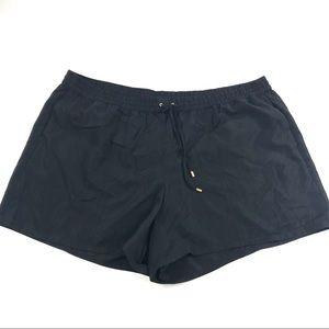 New Cacique Swim Shorts Lined Black Sz 26/28